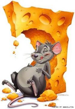 Drawn mice cheese