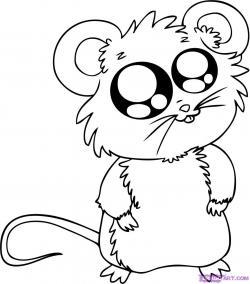 Drawn mice animated