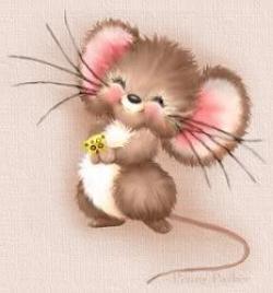 Drawn mice adorable