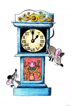 Mouse clipart hickory dickory dock