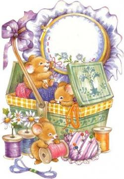 Mice clipart sewing
