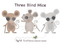 Mouse clipart three blind mouse