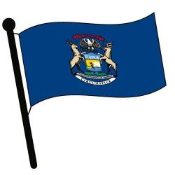 Michigan clipart Michigan Flag Clipart