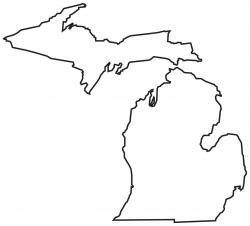 Michigan clipart Michigan Outline