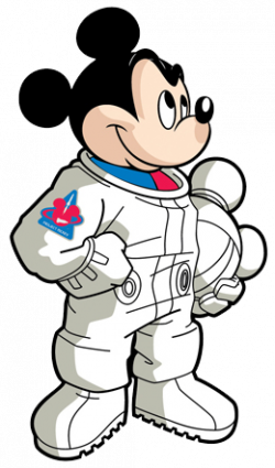 Mickey Mouse clipart astronaut