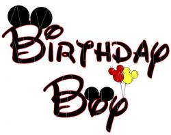 Mickey Mouse clipart birthday boy