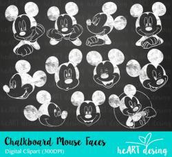 Mickey Mouse clipart chalkboard