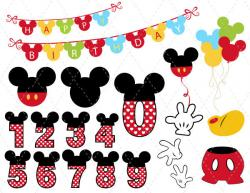 Mickey Mouse clipart digital