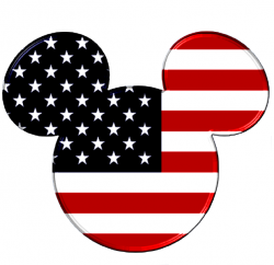Mickey Mouse clipart flag