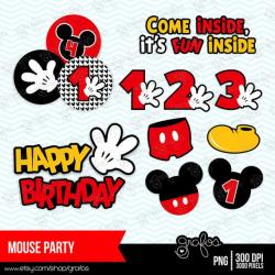 Mickey Mouse clipart number 1