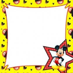 Mickey Mouse clipart page border