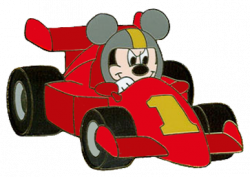 Mickey Mouse clipart race car