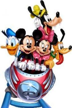 Mickey Mouse clipart roller coaster