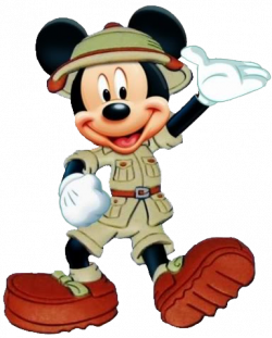 Mickey Mouse clipart safari