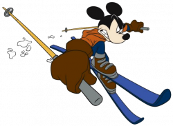 Mickey Mouse clipart ski