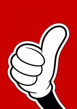 Mickey Mouse clipart thumbs up