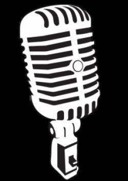 Microphone clipart antique