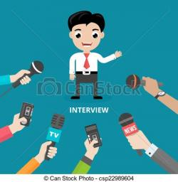 Microphone clipart tv interview