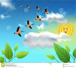 Geese Migration clipart the sky clipart