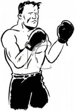 Boxer clipart black and white
