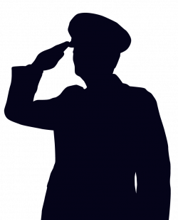 Soldier clipart salute