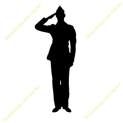 Soldiers clipart salute