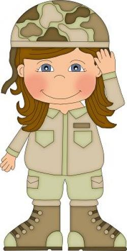 Soldiers clipart female soldier