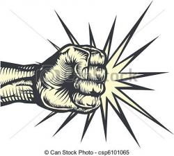 Militant clipart fist punching