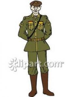 Soldier clipart army uniform