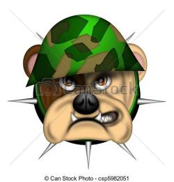 Military clipart bulldog