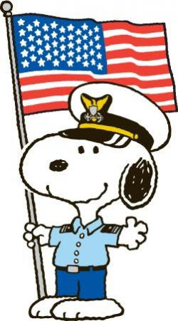 Snoopy clipart veterans day