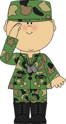 Soldier clipart salute logo
