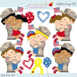Military clipart military family