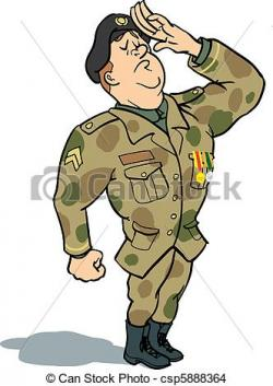 Uniform clipart salute
