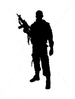 Soldiers clipart silhouette