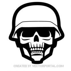 Military clipart skull
