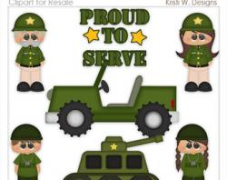 Military clipart sold
