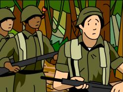 Military clipart vietnam war