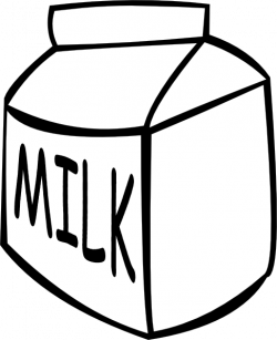 Milk Jug clipart black and white