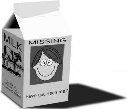 Milk Carton clipart outline