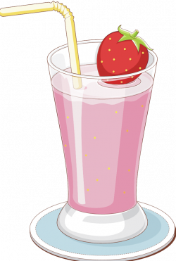 Drink clipart strawberry milk