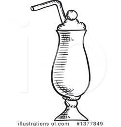 Drawn milkshake doodle