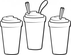 Smoothie clipart black and white