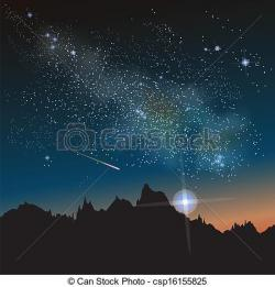 Night Sky clipart milky way
