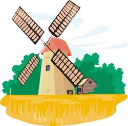 Netherlands clipart farm windmill