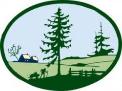 Mill clipart country scene