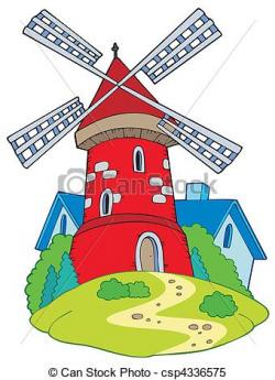 Mill clipart vector