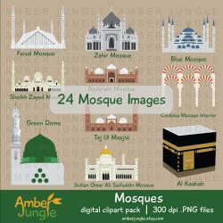Minarets clipart blue mosque