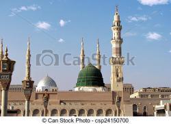 Minarets clipart masjid nabawi