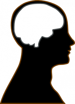 Brains clipart silhouette